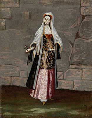 Painting - Woman From The Island Of Mykonos by Workshop of Jean Baptiste Vanmour