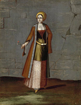 Painting - Woman From The Island Of Tinos by Workshop of Jean Baptiste Vanmour