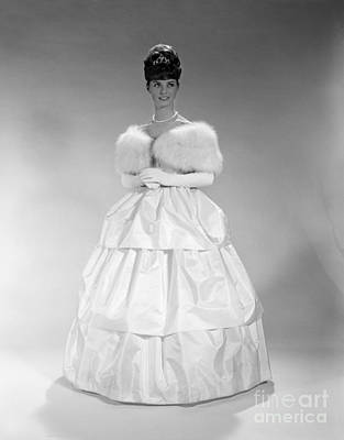 Ball Gown Photograph - Woman In Ball Gown, C. 1960s by H. Armstrong Roberts/ClassicStock