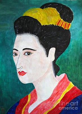 Woman In Kyoto By Taikan Print by Taikan Nishimoto