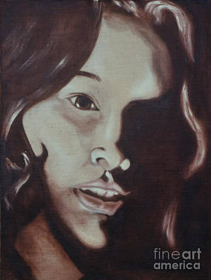 Social Commentary Painting - Woman In Shadow by Phil Welsher