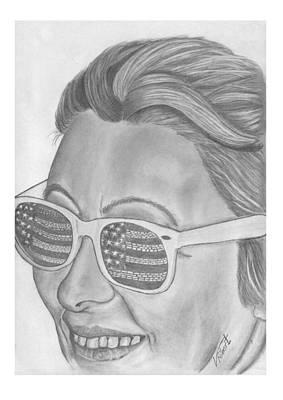 Woman In Sunglasses Original by Veci Robert
