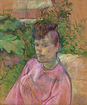 Impressionist Painting - Woman In The Garden Of Monsieur Forest by Henri de Toulouse-Lautrec