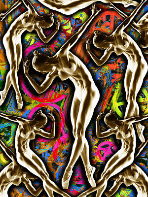 Woman In The Machine Frieze Color 1 Original by Tony Rubino