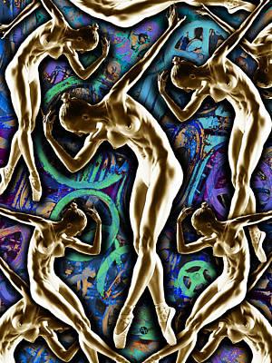 Woman In The Machine Frieze Color 2 Original by Tony Rubino