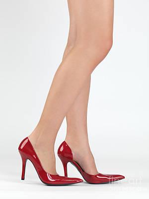 Woman Legs In High Heel Shoes Print by Oleksiy Maksymenko