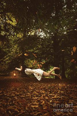 Floating Girl Photograph - Woman Levitating by Amanda Elwell