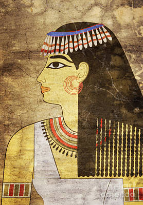 Egyptian Mixed Media - Woman Of Ancient Egypt by Michal Boubin