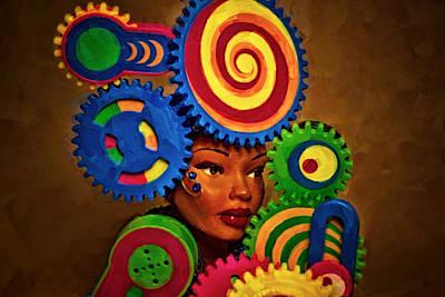 Mystery Digital Art - Woman Of Colors  by Jeff  Gettis