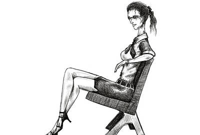 Woman On Bench Print by Sasank Gopinathan