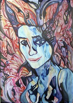 Woman Portrait Print by Alexander Chachanidze