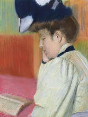 Woman Reading Print by Federigo Zandomeneghi