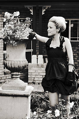 Woman Relaxing In Garden Print by Jorgo Photography - Wall Art Gallery