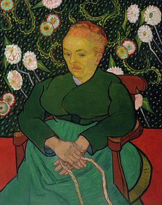 Dutch Painting - Woman Rocking A Cradle, La Berceuse by Vincent van Gogh