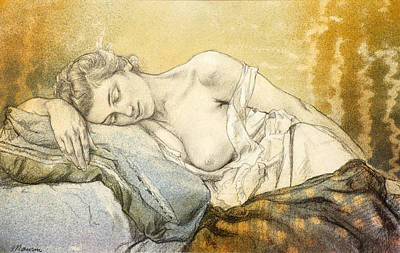Drawing - Woman Sleeping by Charles Maurin