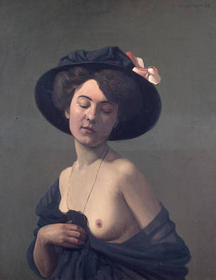 Woman With A Black Hat Print by Felix Vallotton