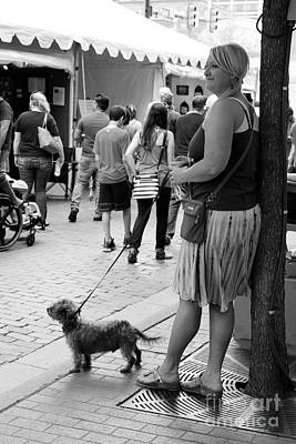 Portrait Photograph - Woman With A Dog by Venus