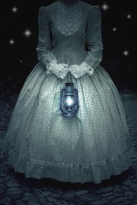 Woman With Lantern Print by Joana Kruse