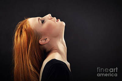 Arouse Photograph - Woman With Red Hair by Aleksey Tugolukov