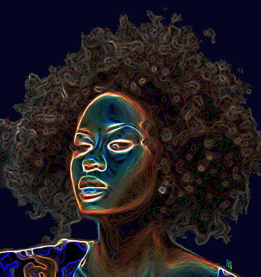 Self Shot Digital Art - Womans Essence IIi  by  Fli Art