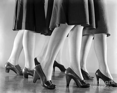 Women In Heels, C.1940s Print by H. Armstrong Roberts/ClassicStock