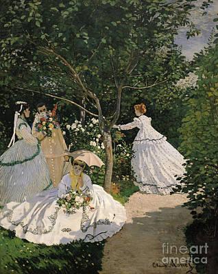 Women In The Garden Print by Claude Monet