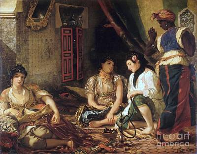 Women Of Algiers In Their Apartment Print by Delacroix