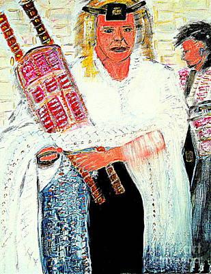 Women Praying At The Wailing Wall Jerusalem Original by Richard W Linford