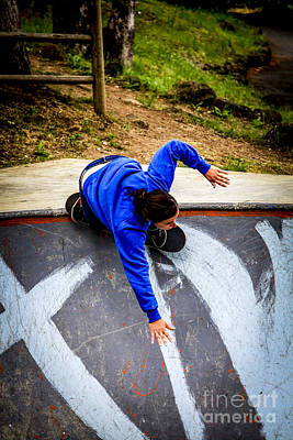 Photograph - Women Skateboarders  by Carl Warren