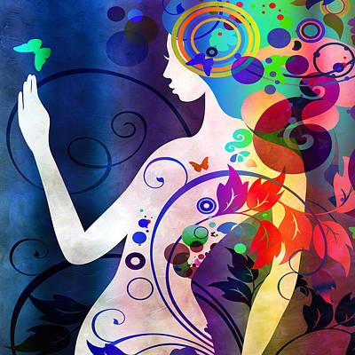 Angelina Digital Art - Wonder by Angelina Vick