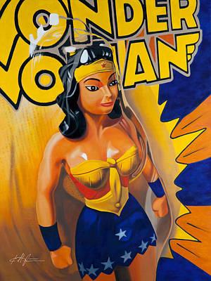 Super Hero Painting - Wonder Woman by Karl Melton