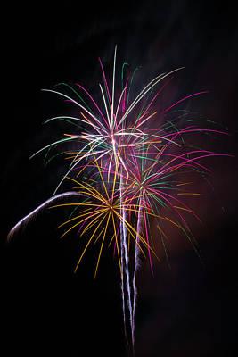 Wonderful Fireworks Print by Garry Gay