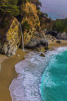 Of Big Sur Beach Photograph - Wonderful Mcway Falls by Garry Gay