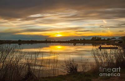Wonderful Sunset Print by Robert Bales