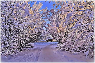 Snow Drifts Digital Art - Wonderful Winter Day by Alexey Bazhan