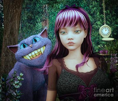 Wonderland Alice Print by Jutta Maria Pusl