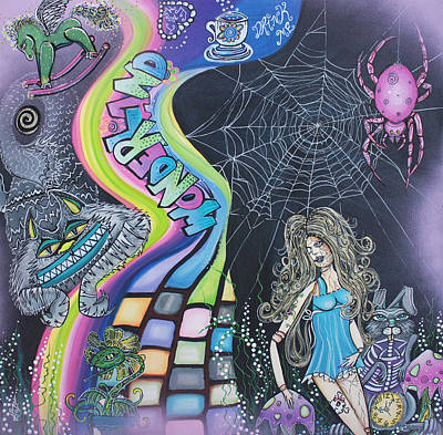 Acrylic Painting - Wonderland Dreams by Laura Barbosa