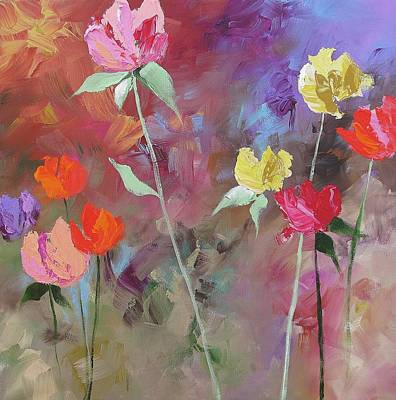 20x20 Painting - Wonders Of Spring by Linda Monfort