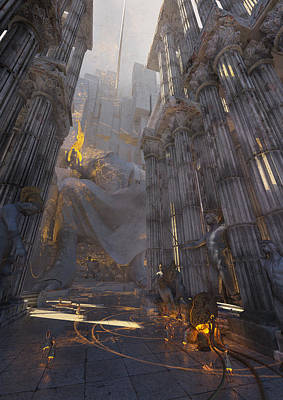 Environment Digital Art - Wonders Temple Of Zeus by Te Hu