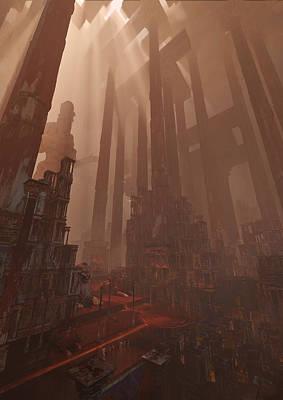 Environment Digital Art - Wonders_temple Of Artmeis by Te Hu