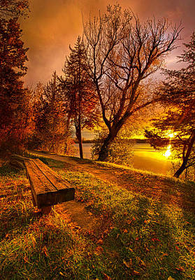 Benches Photograph - Won't You Please Come Home by Phil Koch