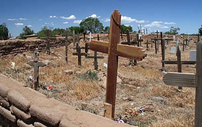 Elizabeth Rose Photograph - Wood Crosses In Taos Cemetery by Elizabeth Rose