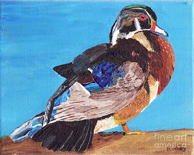 Print featuring the painting Wood Duck by Rodney Campbell