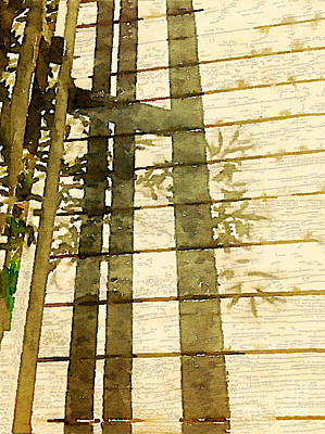 Wood Shadows Print by Janet Dodrill