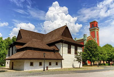 Photograph - Wooden Articular Church In Kezmarok And Lutheran Tower, Slovakia by Elena Duvernay