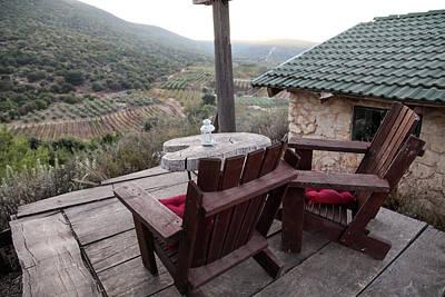 Pause Photograph -  Mountain And Vineyard Landscape by Yoel Koskas