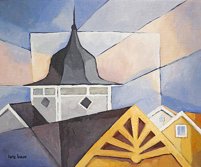 Wooden Houses Painting - Wooden Houses by Lutz Baar