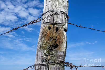 Photograph - Wooden Post by Bernard Jaubert