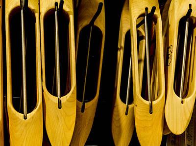 Wooden Shuttles Print by Jean Noren