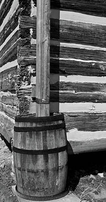 Wooden Water Barrel Print by Douglas Barnett